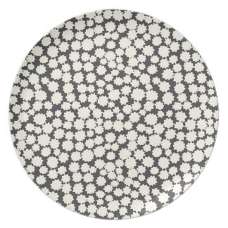 Melamine Plate- Charcoal Tiny Stars! Party Plates