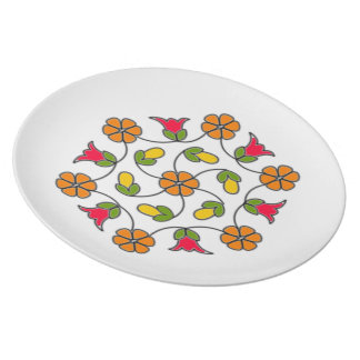 Melamine Plate-Flower Series#63 Plate