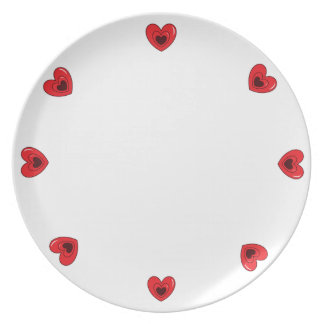 Melamine Plate - Hearts
