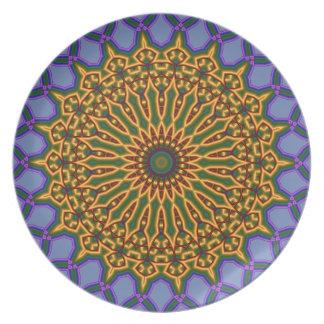 Melamine plate multicolored