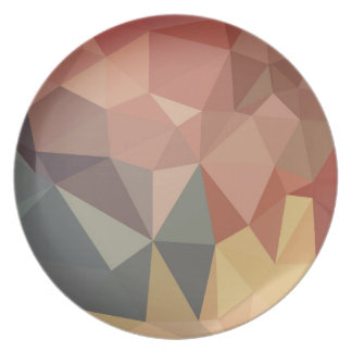 Melamine Plate : VINTAGE Earth design collection