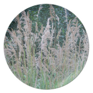 Melamine Plate: Wildflowers & Grasses Alaska Dinner Plate