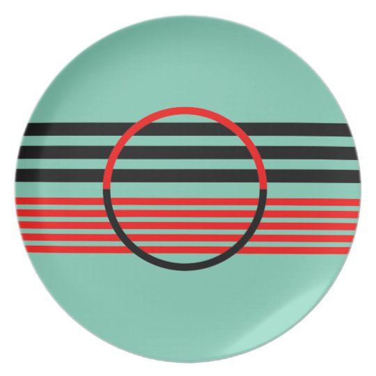 Melamine Plate with Art Deco Style Design