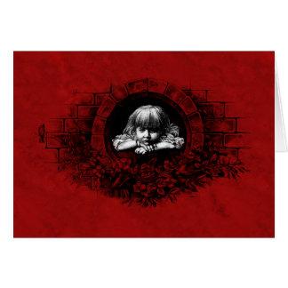 Melancholy Baby Gothic Art Card