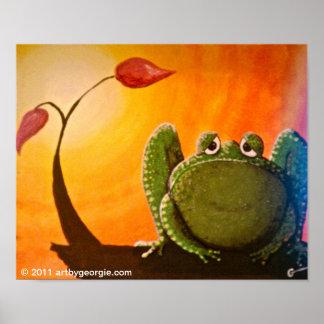 Melancholy Frog Poster Print
