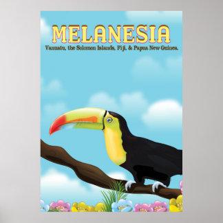 Melanesia Toucan travel poster