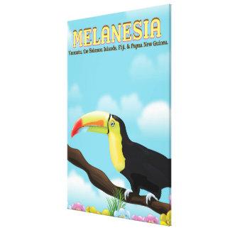 Melanesia Toucan travel poster Canvas Print