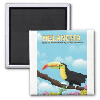 Melanesia Toucan travel poster Magnet