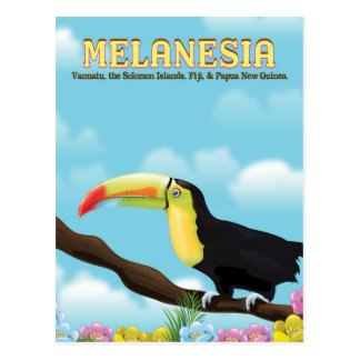 Melanesia Toucan travel poster Postcard