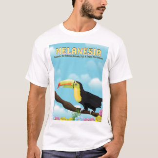 Melanesia Toucan travel poster T-Shirt