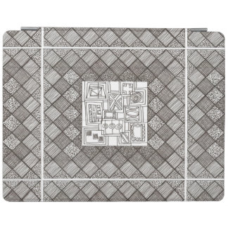 Melange-Abstract Geometric Doodle Pattern iPad Cover