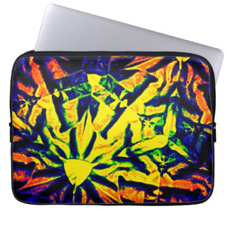 Mélange abstrait de couleur housse ordinateur