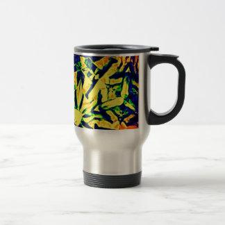 Mélange abstrait de couleur mug de voyage en acier inoxydable