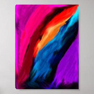 Mélange de couleur poster