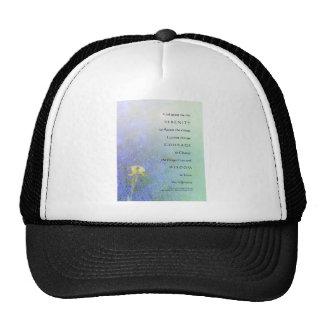 Mélange d'iris jaune de prière de sérénité casquettes de camionneur