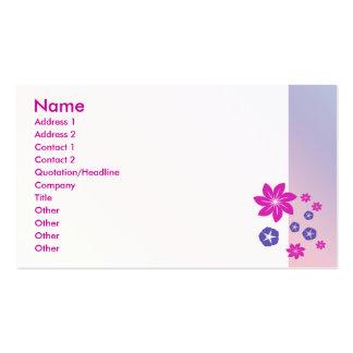 Mélange floral simple avec l'harmonie de couleur modèle de carte de visite