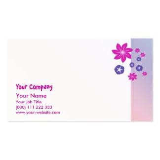 Mélange floral simple avec l'harmonie de couleur modèles de cartes de visite