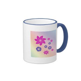 Mélange floral simple avec l'harmonie de couleur mugs