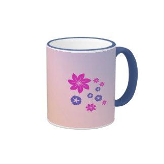 Mélange floral simple avec l'harmonie de couleur tasse à café