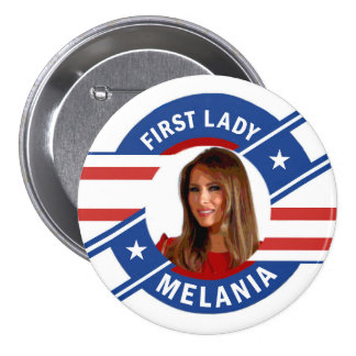 Melania Trump 3 Inch Round Button
