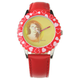 Melania Trump Bezel with Red Hearts Watch