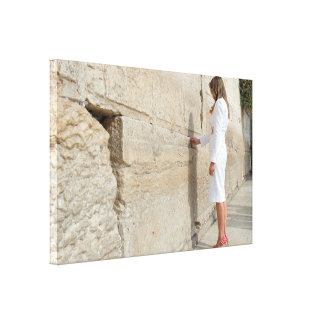 Melania Trump Places Note In Western Wall (Kotel) Canvas Print