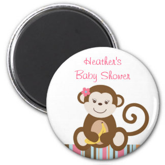 Melanie Monkey Girl Monkey Party Favor Magnets