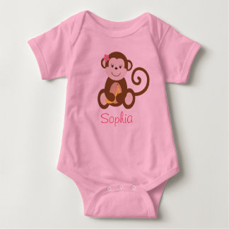 Melanie Monkey Personalized Baby Creeper T-Shirt