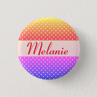 Melanie name plate Anstecker 1 Inch Round Button