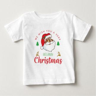 Melanin Christmas afrocentric Santa Baby T-Shirt