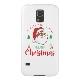 Melanin Christmas afrocentric Santa Galaxy S5 Cases