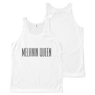 Melanin Queen All-Over-Print Tank Top