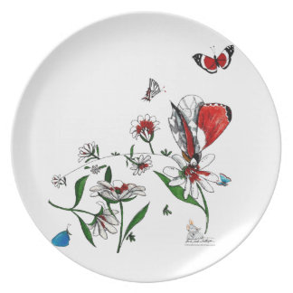 Melanine plate, full of life colors and beauty. party plates