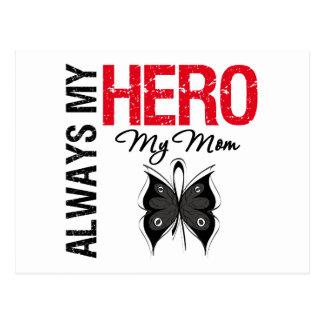 Melanoma Always My Hero My Mom Postcard