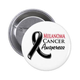 Melanoma Cancer Awareness Ribbon 2 Inch Round Button