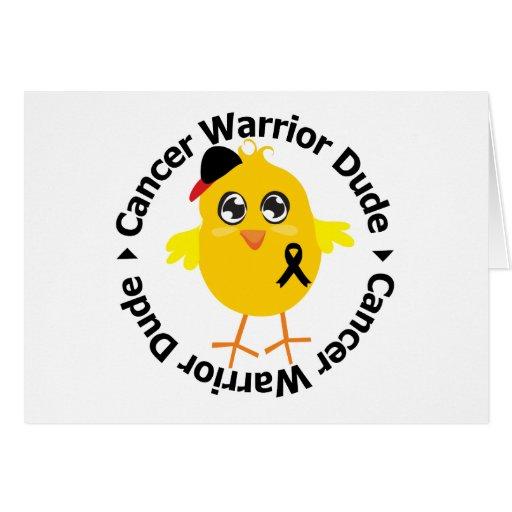 Melanoma Cancer Warrior Dude Card