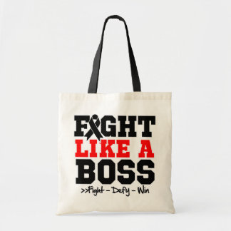 Melanoma Fight Like a Boss Canvas Bags