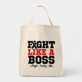 Melanoma Fight Like a Boss Grocery Tote Bag