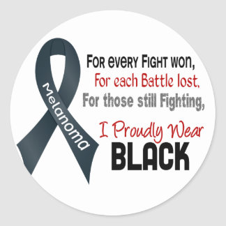Melanoma For Every…..I Proudly Wear Black 1 Classic Round Sticker