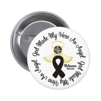 Melanoma God Made My Hero An Angel 2 Inch Round Button