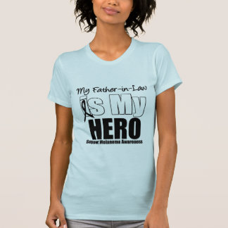 Melanoma Hero Father-in-Law Tee Shirts