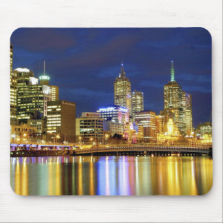 Melbourne, Australia. A nighttime view of the 2 Mousepad