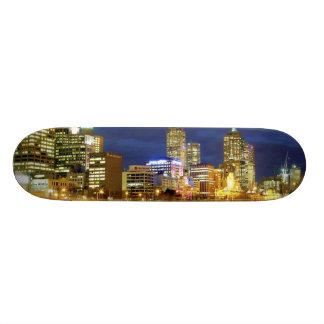 Melbourne, Australia. A nighttime view of the 2 Skateboard Deck