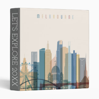 Melbourne, Australia | City Skyline 3 Ring Binder