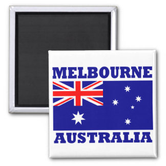 Melbourne Australia Flag Square Magnet