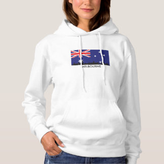 Melbourne Australia Skyline Australian Flag Hoodie