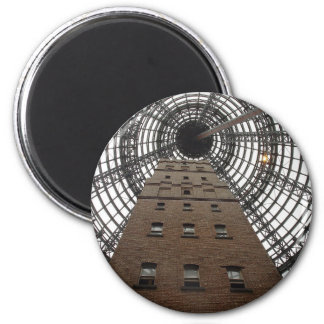 Melbourne Central Historic Shot Tower 2 Inch Round Magnet