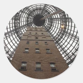 Melbourne Central Historic Shot Tower Round Sticker