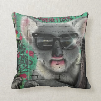 Melbourne I Love You street art / grafitti pillow