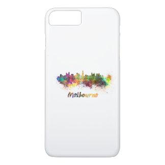Melbourne skyline in watercolor iPhone 7 plus case